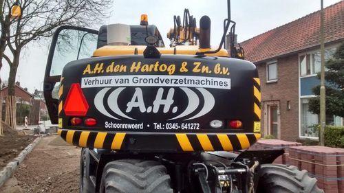 JCB JS145W TAB voor Den Hartog Schoonrewoerd