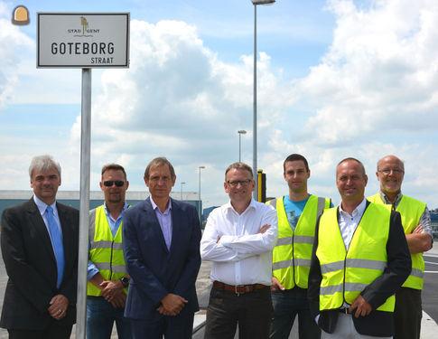 Het Havenbedrijf Gent investeerde 600.000 euro in nieuwe G�tebergstraat