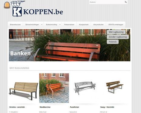 Koppen.be lanceert webshop