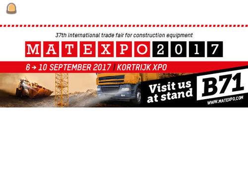 Wegenbouw.be naast mediapartner ook standhouder op Matexpo 2017