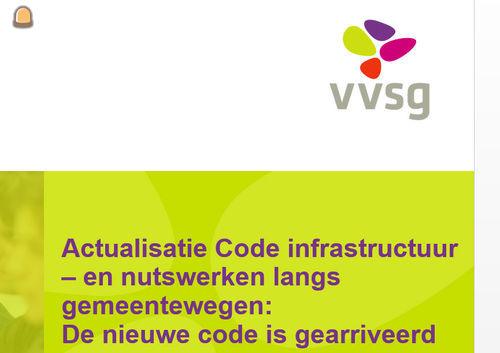 Actualisatie Code infrastructuurwerken en nutswerken langs gemeentewegen