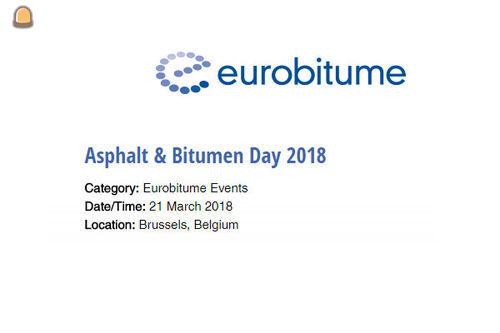 Woensdag 21 maart Asfalt en Bitumendag 2018