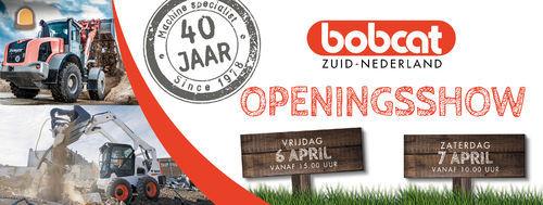Openingsshow voor Bobcat Zuid Nederland op 6 en 7 april