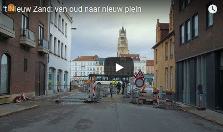 Timelapse video heraanleg 't Zand in Brugge