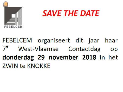 FEBELCEM Provinciale Contactdag op 29 november te Knokke