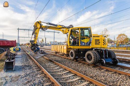 Zesde Atlas spoorwegmachine voor van de Mheen Rail in drie jaar.