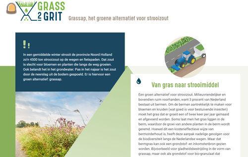 Proefproject met alternatief dooimiddel uit bermgras in Alkmaar