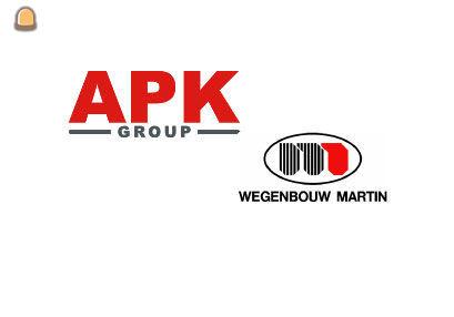 APK Group en Wegenbouw Martin hebben een akkoord getekend om voortaan onder dezelfde vlag te varen
