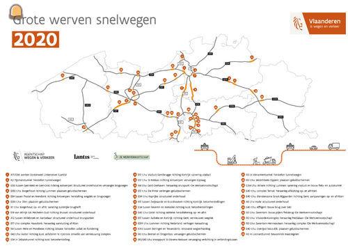 38 snelwegwerven in 2020: respecteer de verkeerssignalisatie