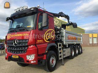 Mercedes 8x4 kraanauto Omgeving Venlo