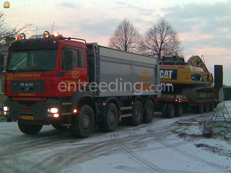 Dieplader / oprijwagen MAN + Orthaus