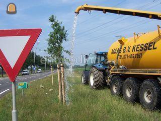 Tractor + waterwagen Omgeving Venlo