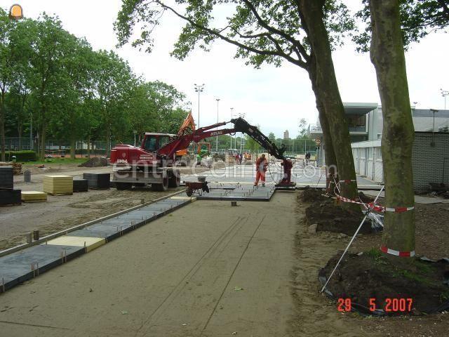 Projecten / werken Machinaal betonplaten (her)leggen