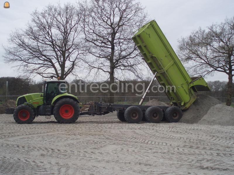 Tractor + kipper Claas 810 + Jako Tiger 320SK
