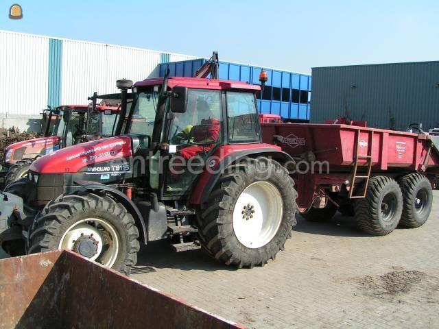 Tractor New Holland TS115a + kipper