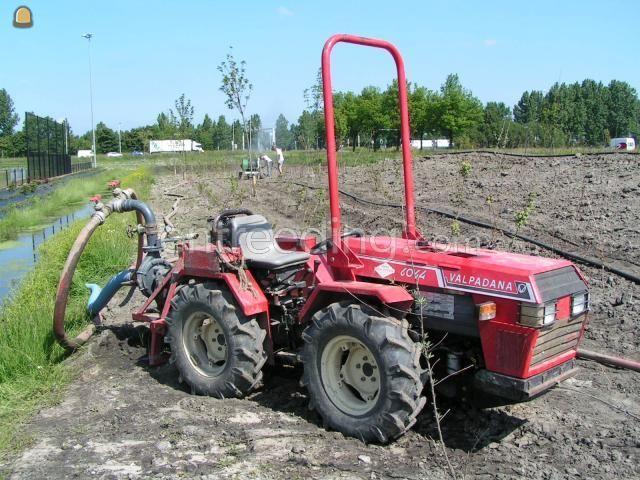 Tractor + pompen Valpadana 6044 met zuigpomp