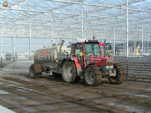 Tractor + waterwagen Trekker + tank 8m3