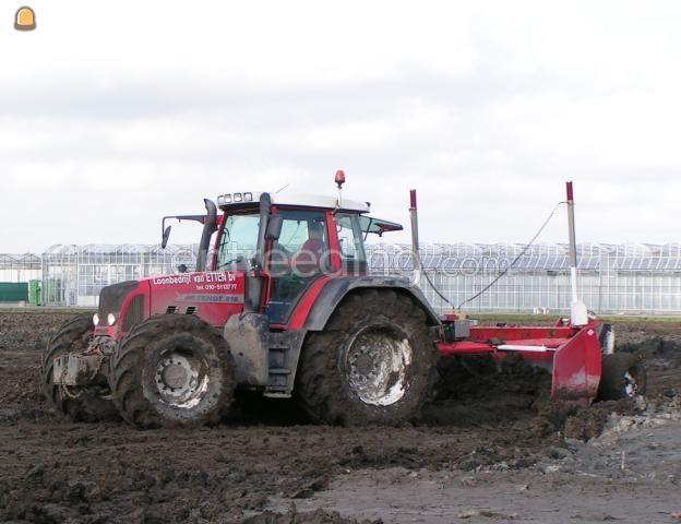 Tractor Fendt 818 + kilverbord 3 mtr breed