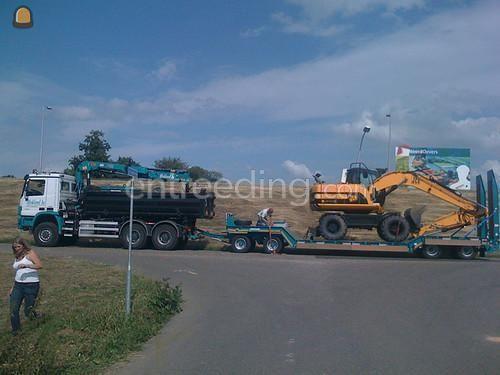 Dieplader / oprijwagen mercedes knijperauto + dieplader