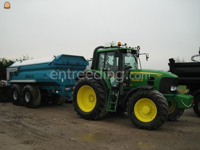 Tractor + kipper john deere 7530 & VGM 14m3 incl Miliekleppen
