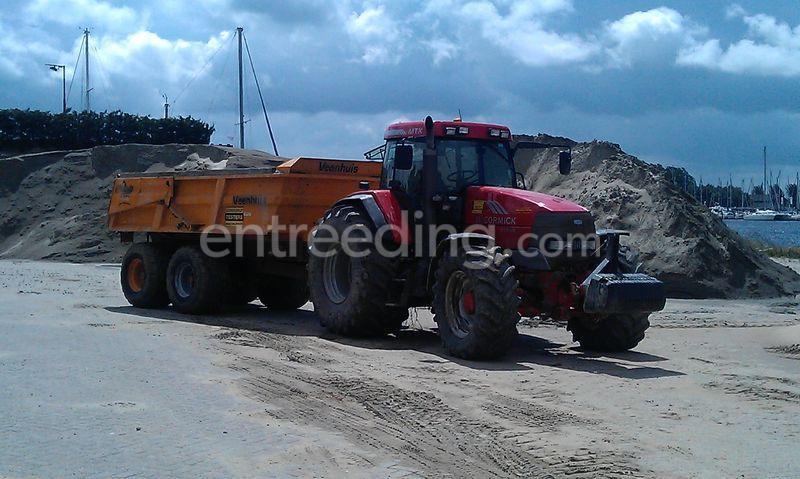 Tractor + Veenhuis JVZK 18 ton