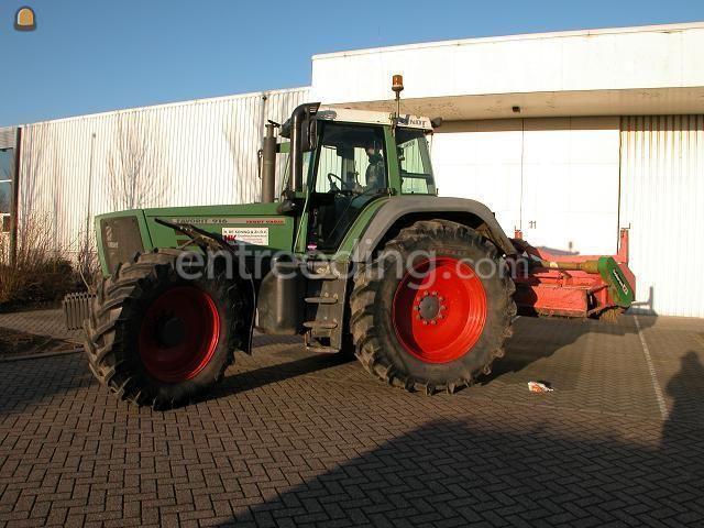 Tractor + veegmachine Fendt 916+veegbezem