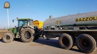 Tractor met waterwagen Omgeving Goes