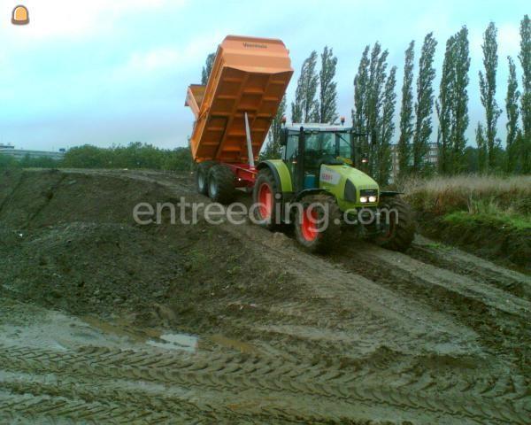 Tractor + kipper Claas 697 + Veenhuis