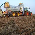 Tractor + bemester claas met schouten
