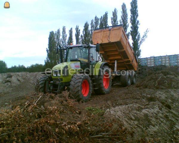 Tractor + kipper Claas 656 + HM
