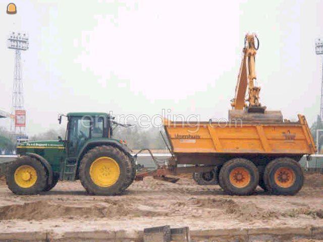 Tractor + kipper John Deere 6910