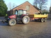 Tractor + kipper Case jxu 1100+vgm kipper