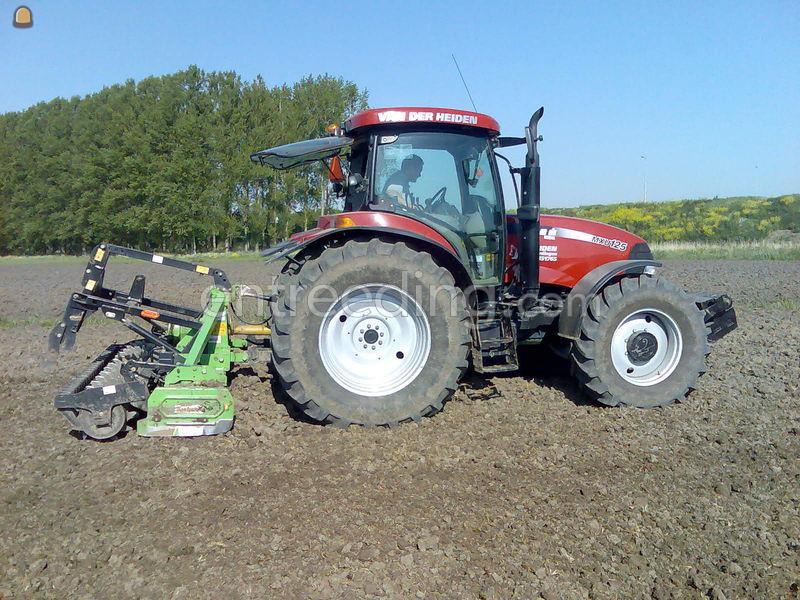 Tractor + rotorkopeg Case mxu 125+rotoreg