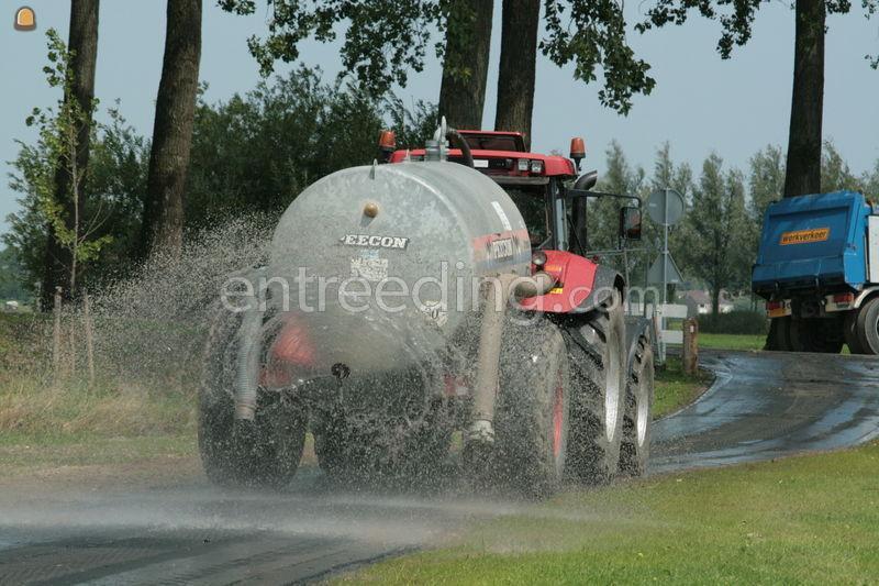 Tractor + waterwagen Case cvx 1170+watertank