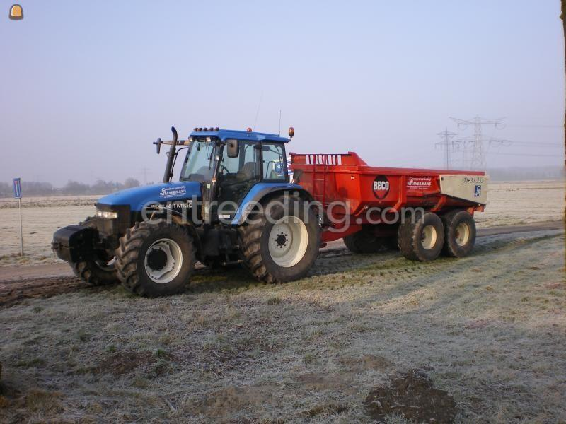 Tractor + kipper New Holland TM 150 + Beco