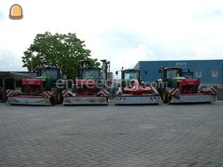 Tractor + schijvenmaaier Omgeving Wijk bij Duurstede