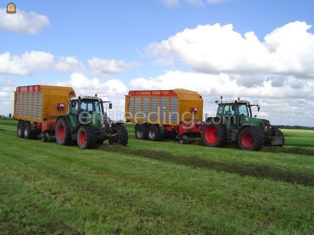 Tractor + opraapwagen Trekker + opraapwagens