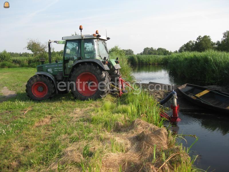 Tractor + pompen Fendt met Lely pomp