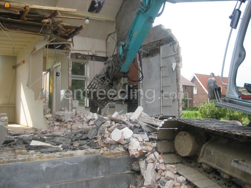 Projecten / werken Slopen woonhuis Kruisweg.