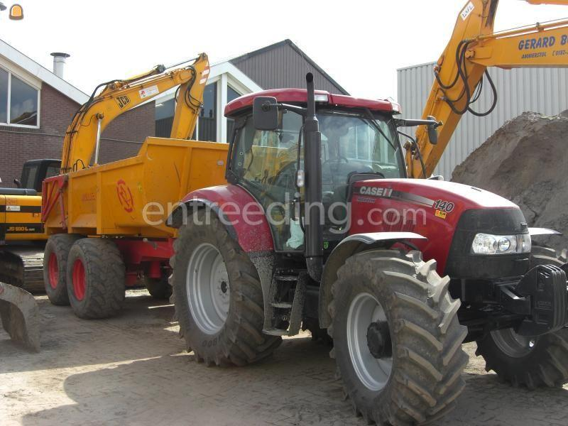 Tractor + kipper Case 140 met Mullie GT 20