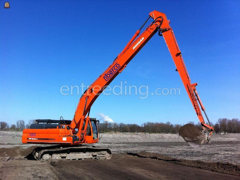 Rupsgraafmachine Doosan DX340 Long reach