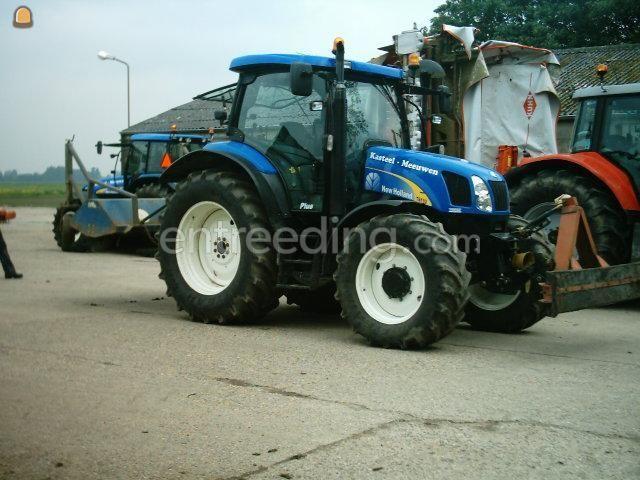 Tractor + veegmachine Trekker + veegmachine