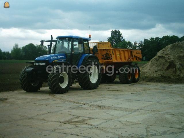 Tractor + kipper Trekker + 22 ton gronddumper