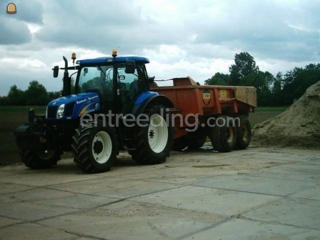 Tractor + kipper Trekker + 14 ton Beco gronddumper.