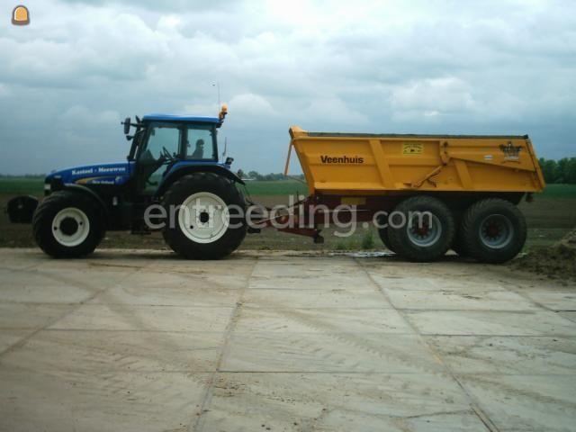 Tractor + kipper Trekker + 18 ton Veenhuis gronddumper