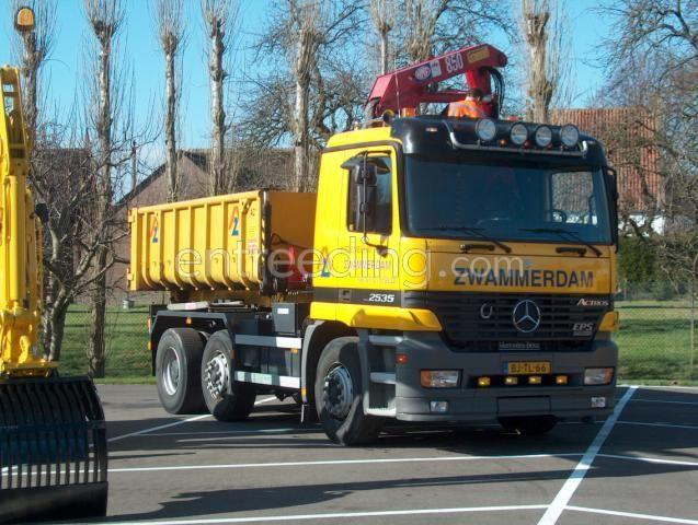 Kippervrachtauto Mercedes Actros Combiwagens 6x2