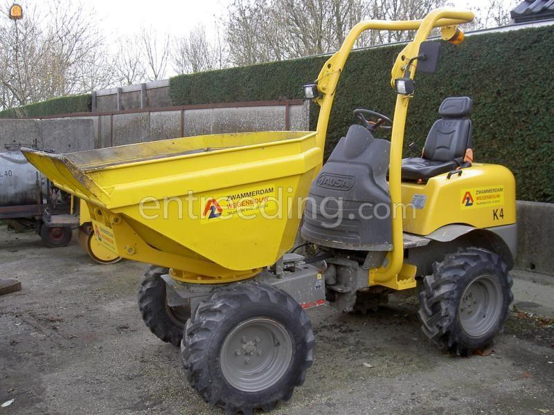 Zelfrijdende kruiwagen Ausa motorjapanner/dumper