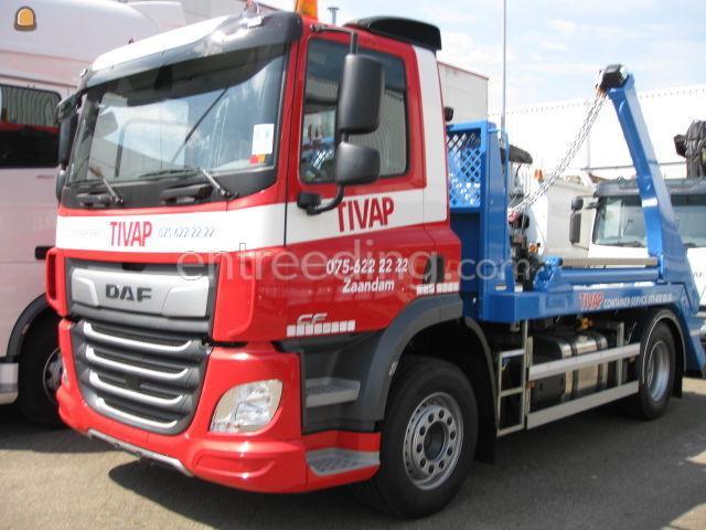 DAF 75 portaal  Containerwagen 4x2