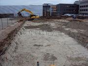 Ontgraven bouwput / kelder