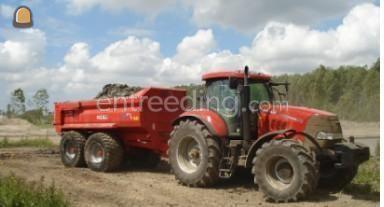 Tractor + kipper Case IH